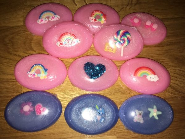 Bubblegum Scented Kids Variety Crystal Soaps